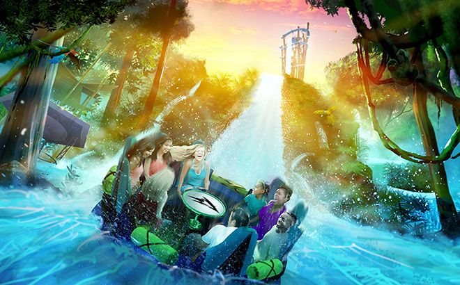 Record Breaking Infinity Falls Opening at SeaWorld Orlando
